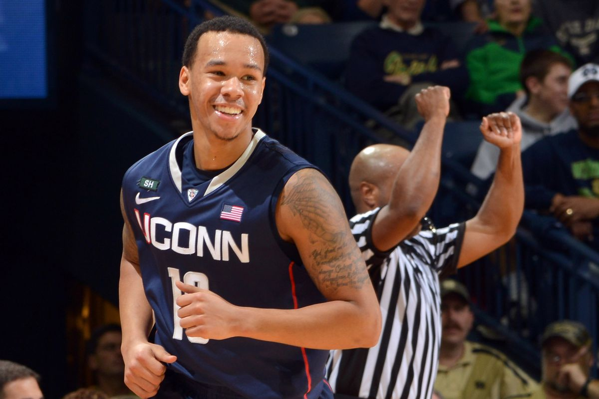 Get used to seeing a lot of these images when UConn's playing.