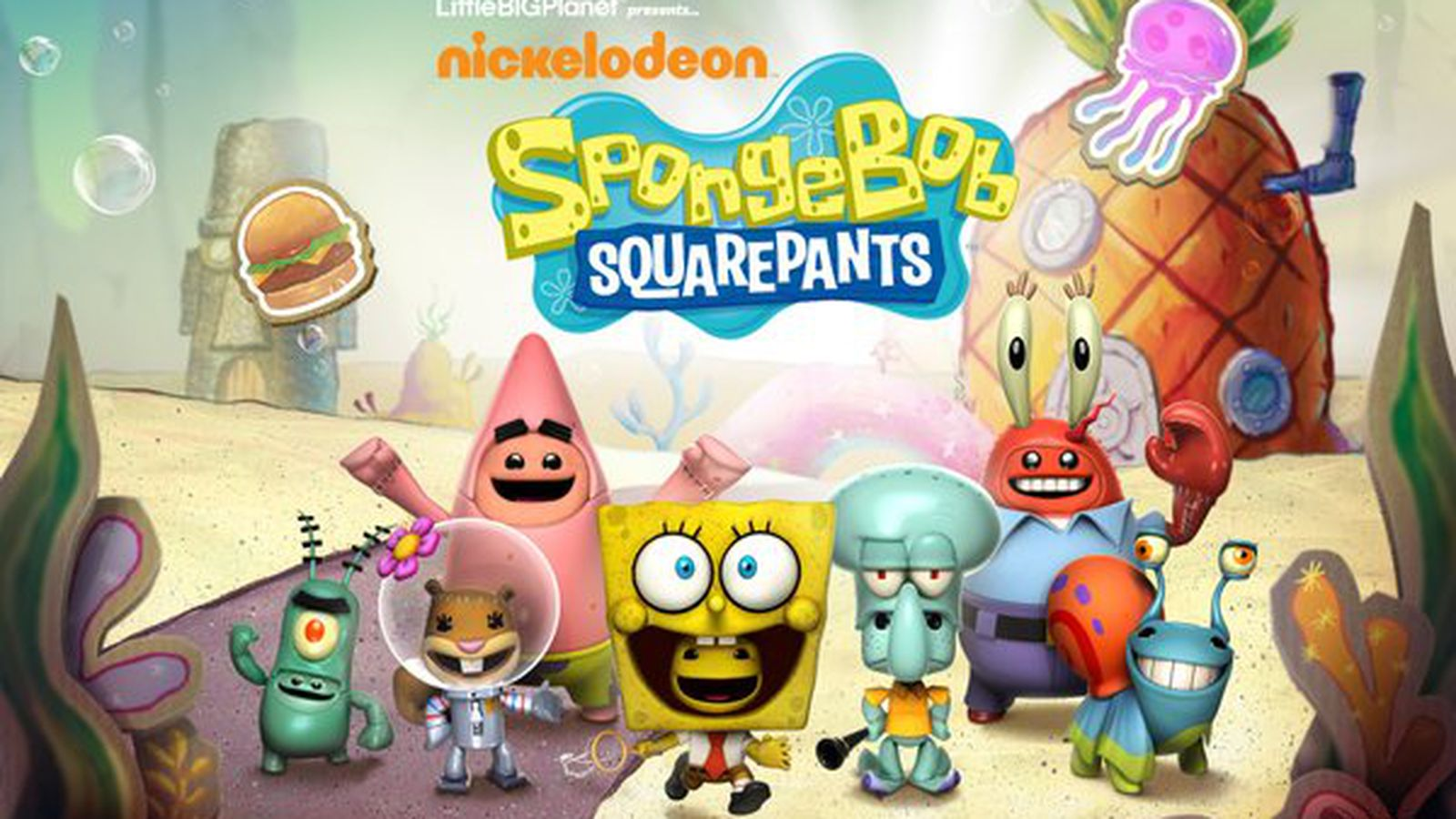 littlebigplanet moves into a pineapple under the sea with spongebob squarepants dlc