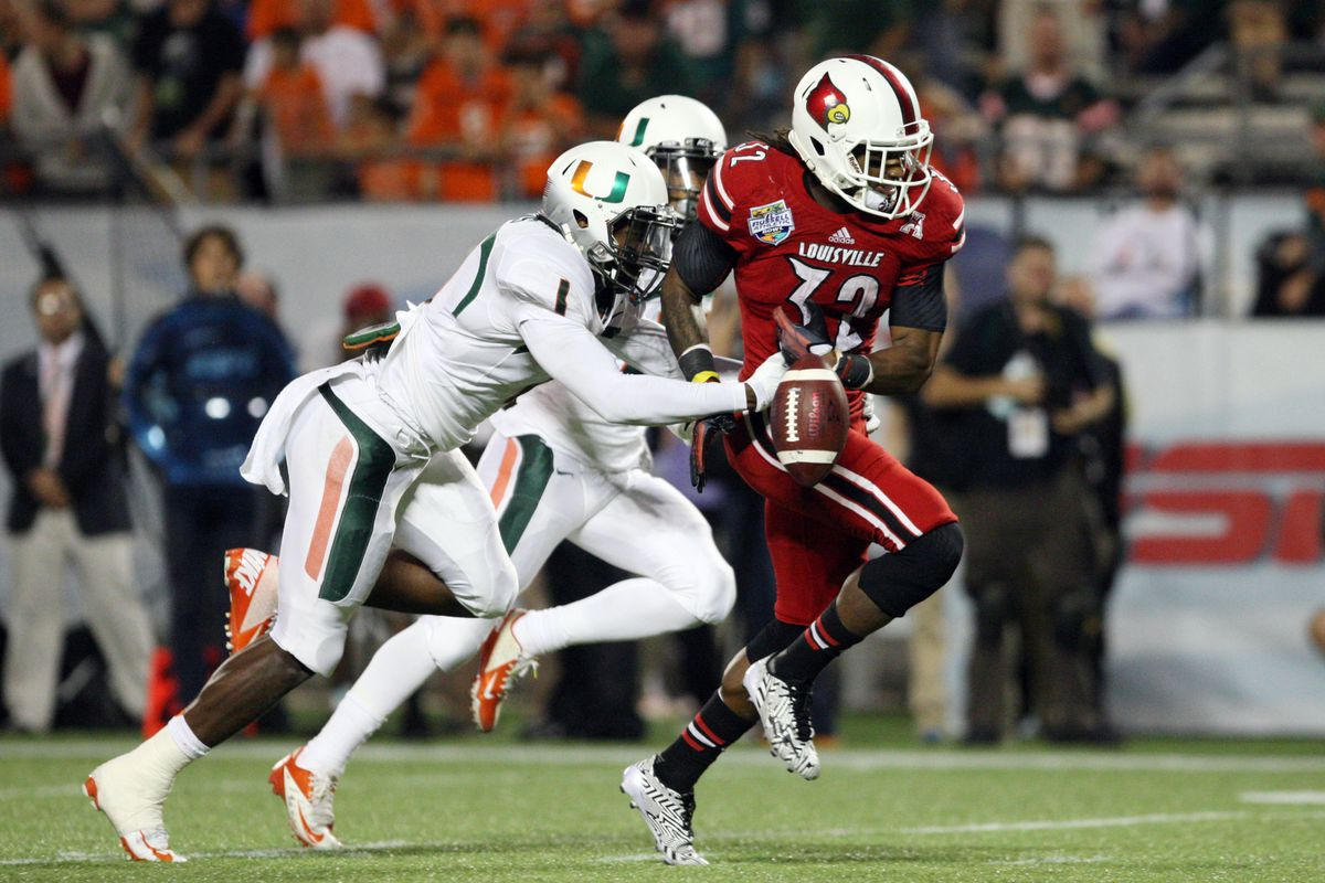 Burns also stars at CB for the Canes football squad.