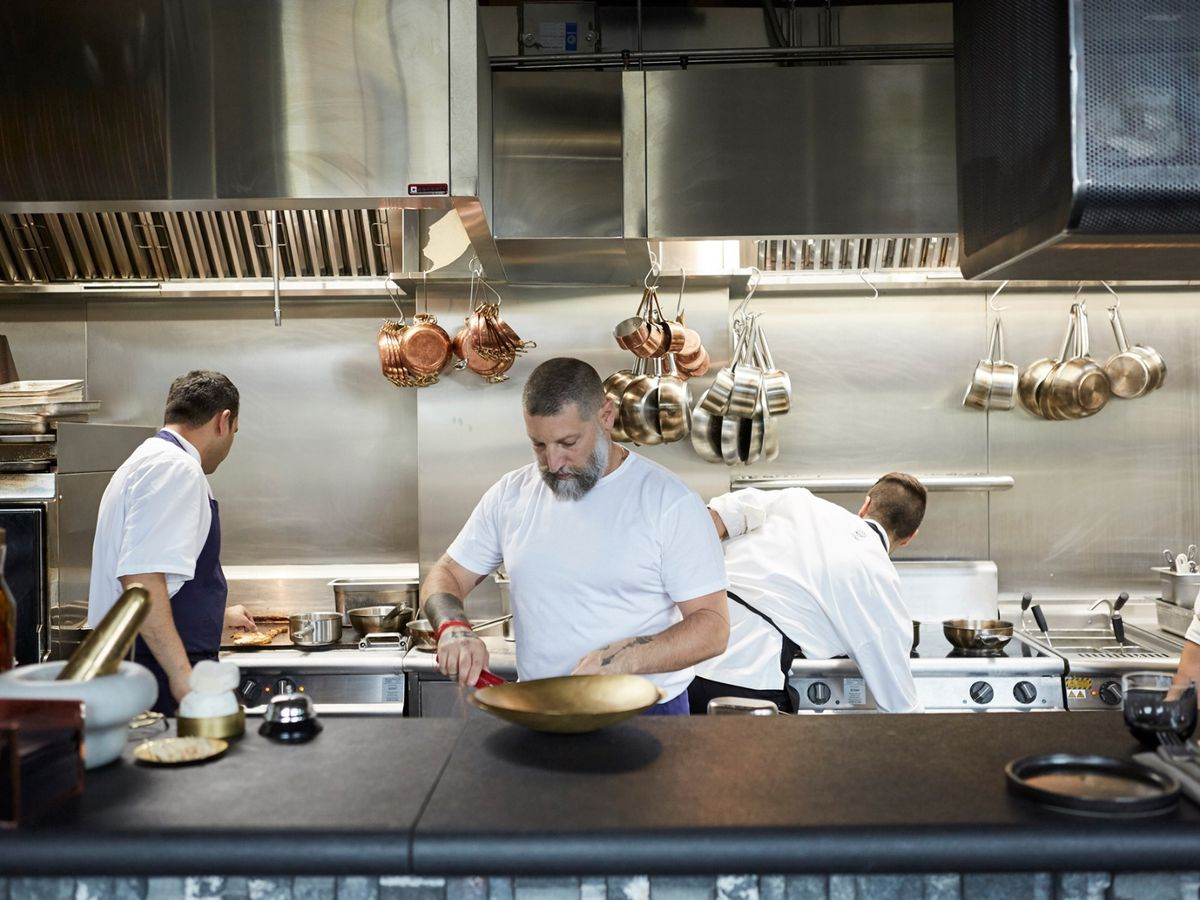 Chef Assaf Granit behind the pass at Coal Office Restaurant