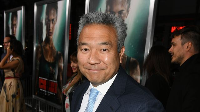 Chairman and CEO of Warner Bros. Entertainment Kevin Tsujihara at the opening of <em>Tomb Raider</em> at the TCL Chinese Theater in March.