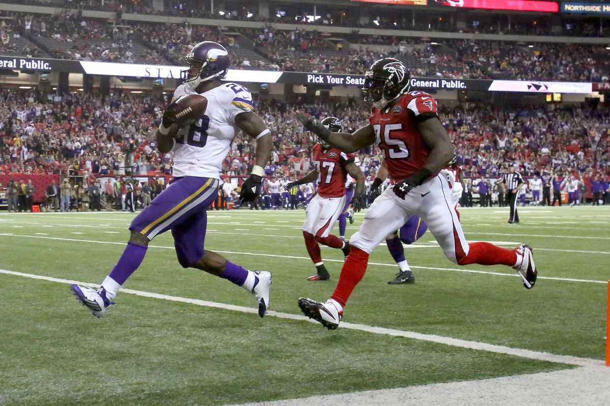 Peterson scored the most fantasy points of any Vikings players last week, putting up an obscene 30.7 point total.