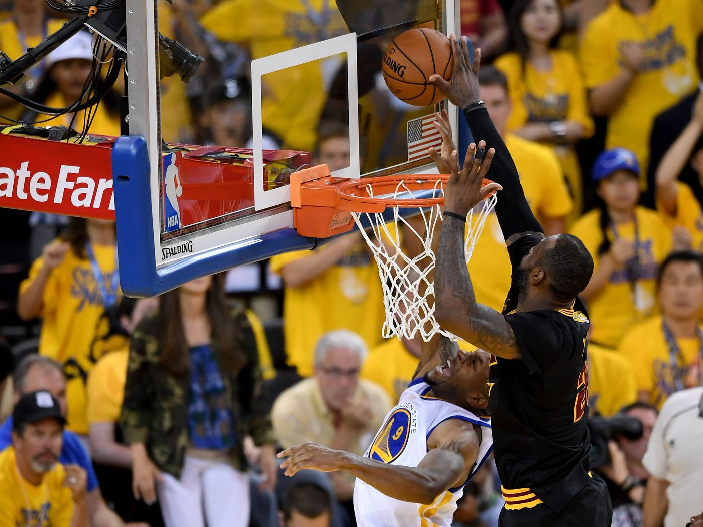 Image result for lebron block vs iguodala