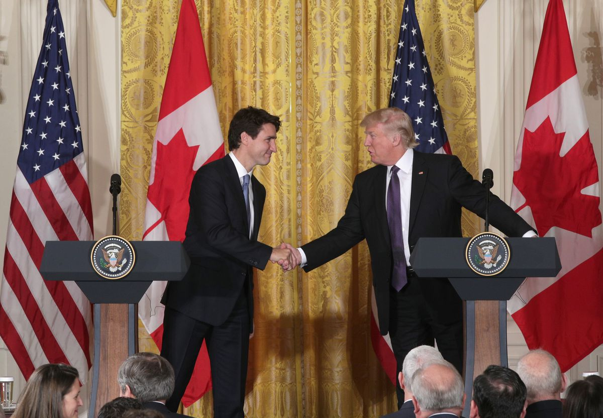 Donald Trump Hosts Canadian PM Justin Trudeau At The White House