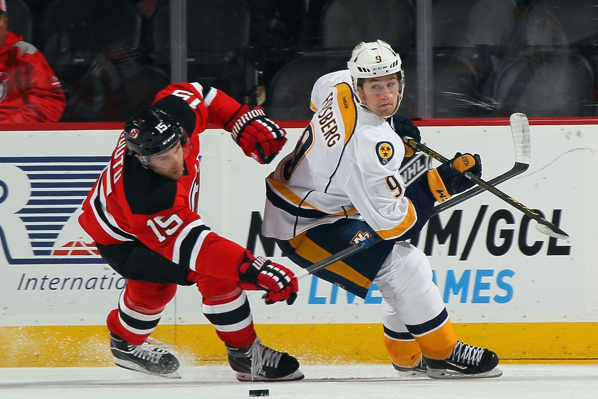 Tuomo Ruutu! Filip Forsberg! I hope I don't see this matchup too much tonight!