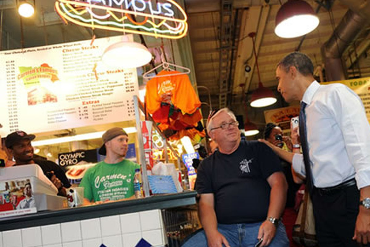 President Obama at Spataro's at the RTM
