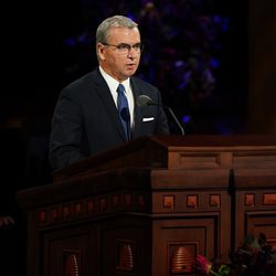 Elder Carlos A. Godoy, General Authority Seventy, speaks during the Sunday morning session of the 190th Semiannual General Conference of The Church of Jesus Christ of Latter-day Saints on Oct. 4, 2020.