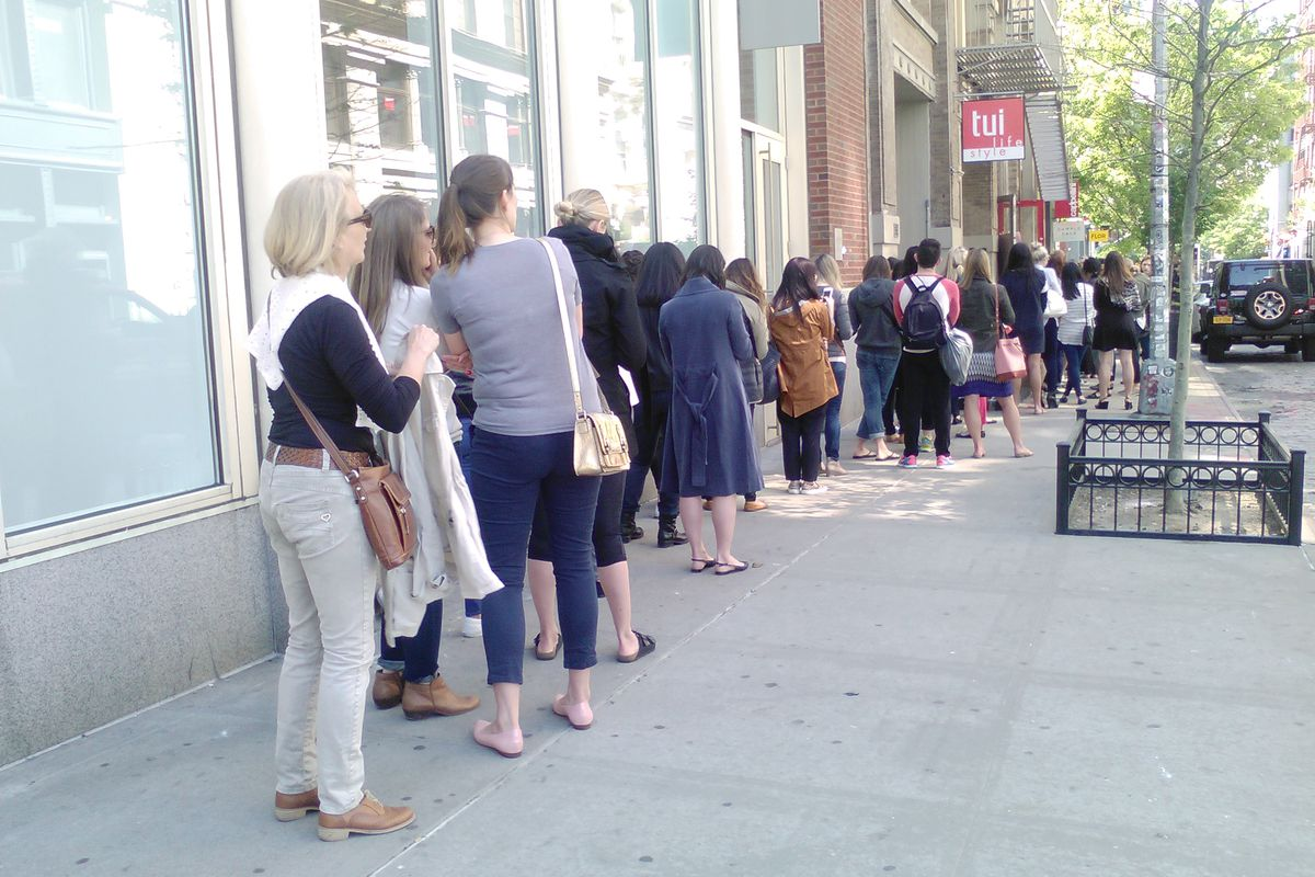 There's a Two Hour Wait Outside the Loeffler Randall Sample Sale ...