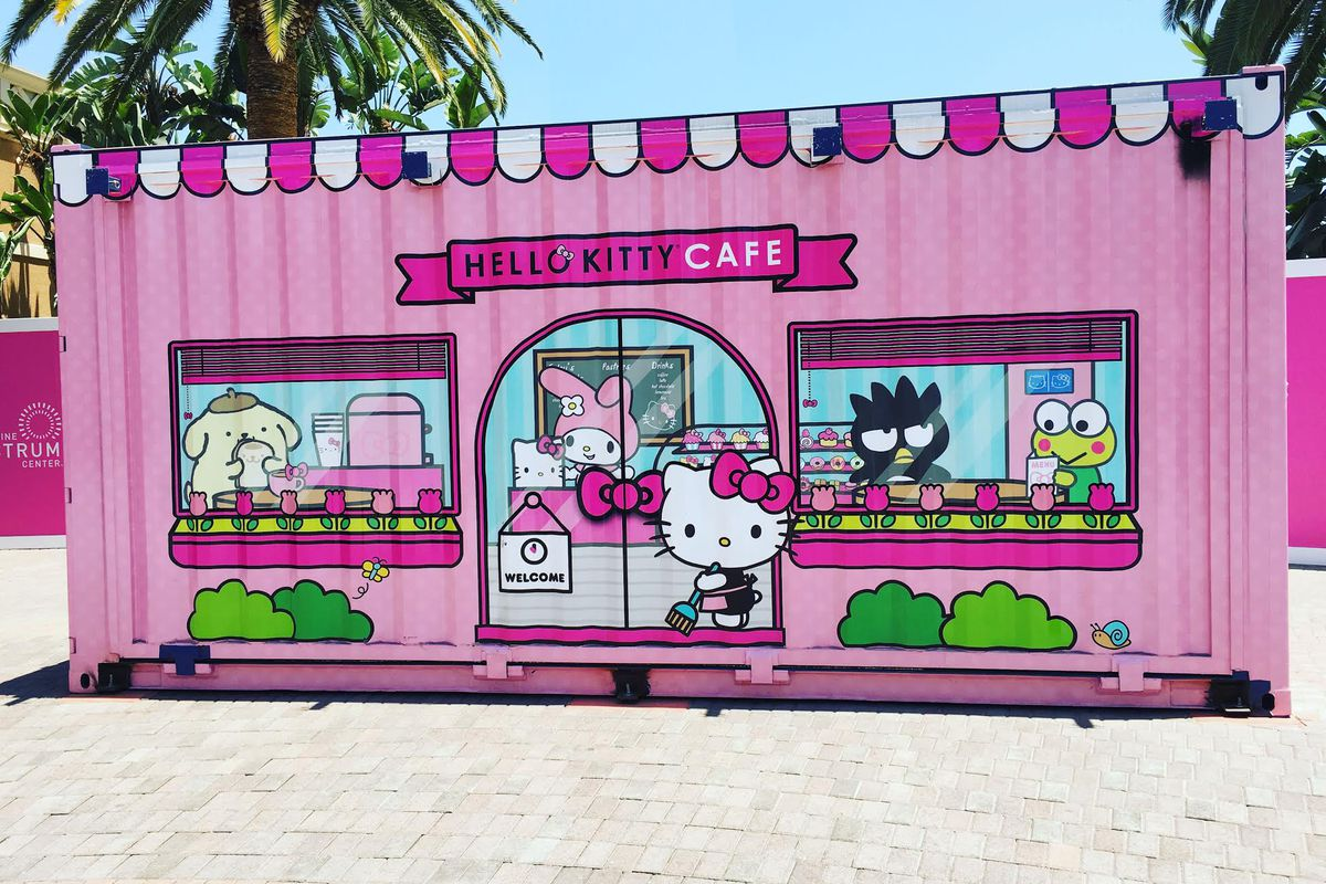 Hello Kitty Cafe pop-up container
