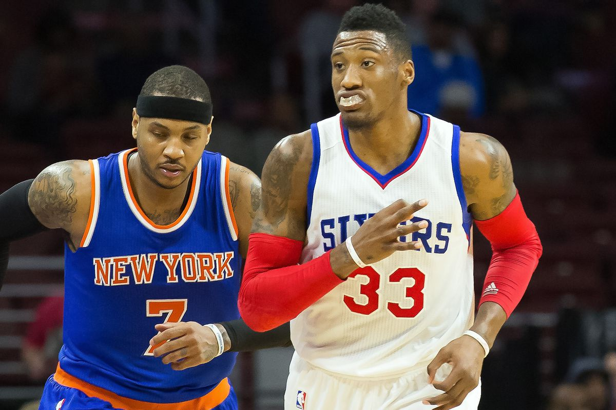 Just as Robert Covington ran past Carmelo Anthony, the Sixers ran past the Knicks in Tank Bowl 2015.