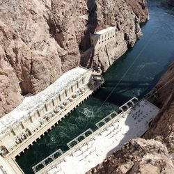 Water outlet of the Hoover Dam, Tuesday, April 10, 2012.