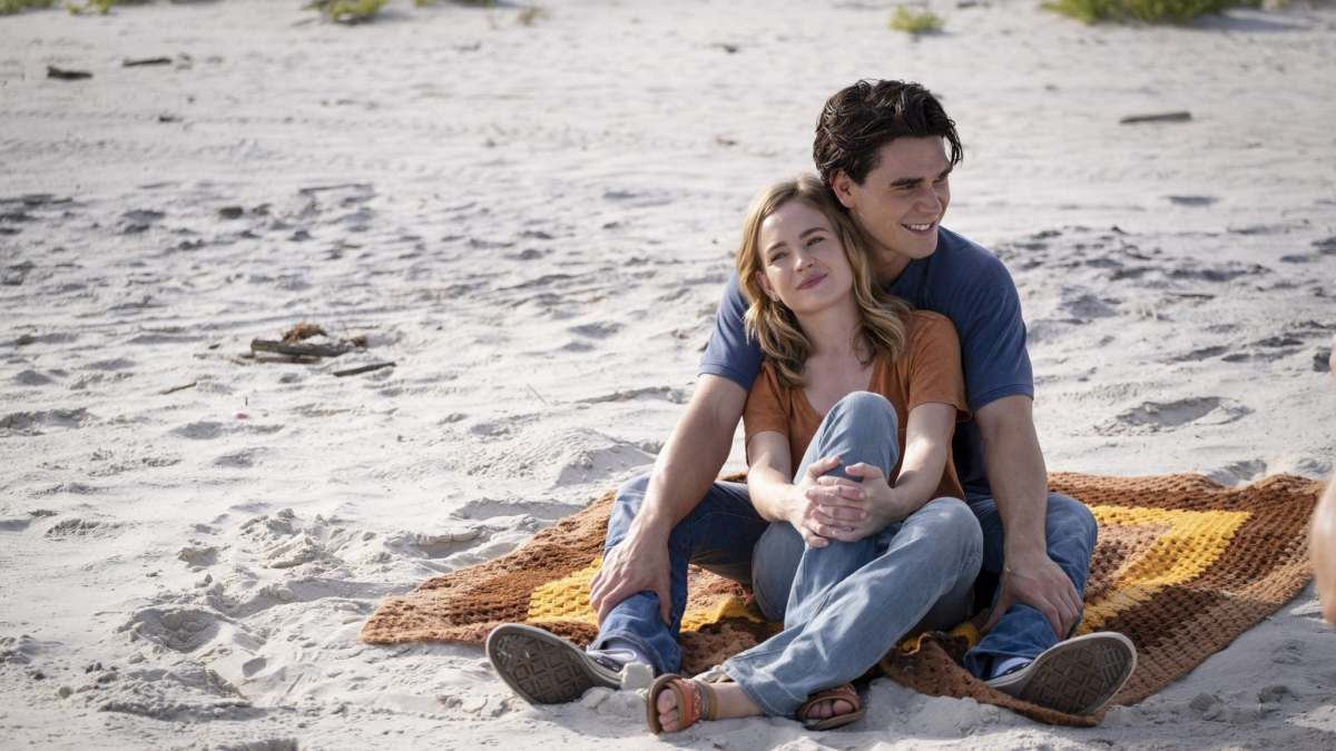 I still believe: KJ Apa and Britt Robertson in the faith-based film