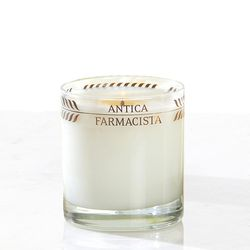 """Usually found in luxury hotels and high-end department stores, <a href=""""http://www.luxehomephiladelphia.com/collections/candleholders-modern-decorative"""">Anitica Farmistica</a> candles ($44 at Luxe Home) are an indulgent gift that doesn't break the bank."""