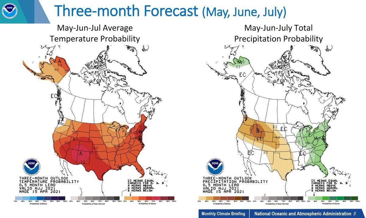 NOAA Three Month Forecast