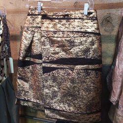 Metallic skirt, $225