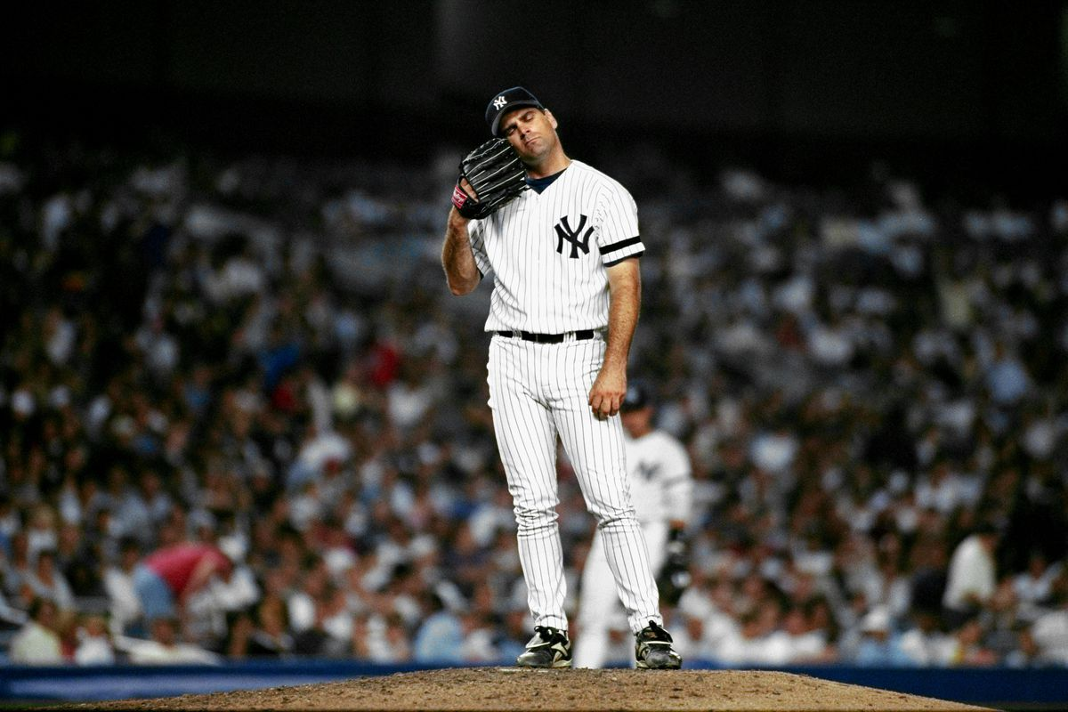 New York Yankees' starting pitcher Kenny Rogers during 6th i