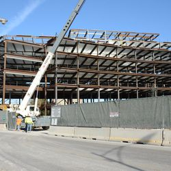 10:40 a.m. Another view of the plaza building -