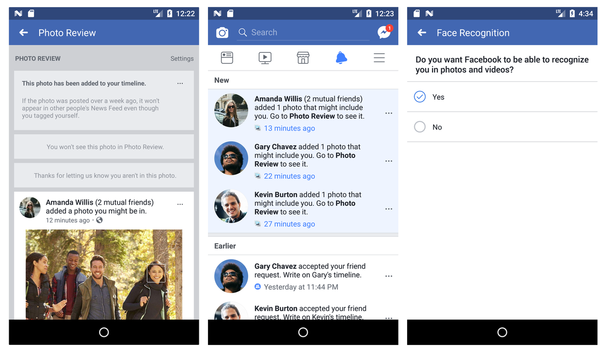 The new tool will notify you when friends and mutual acquaintances upload  photos you're tagged in. Image: Facebook