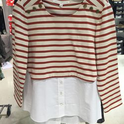 Veronica Beard combo top, size large, $71.60 (was $295)