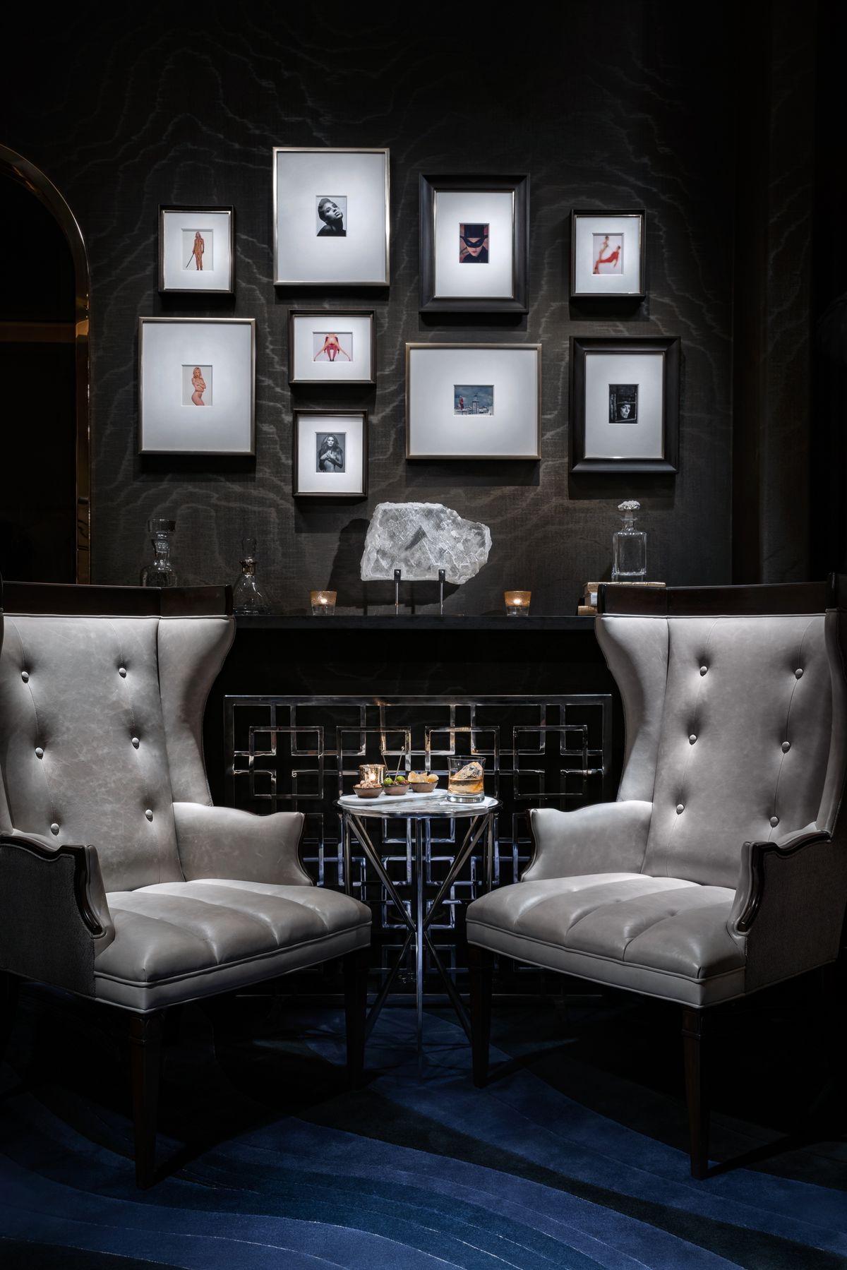 The fireplace at Mr. Coco