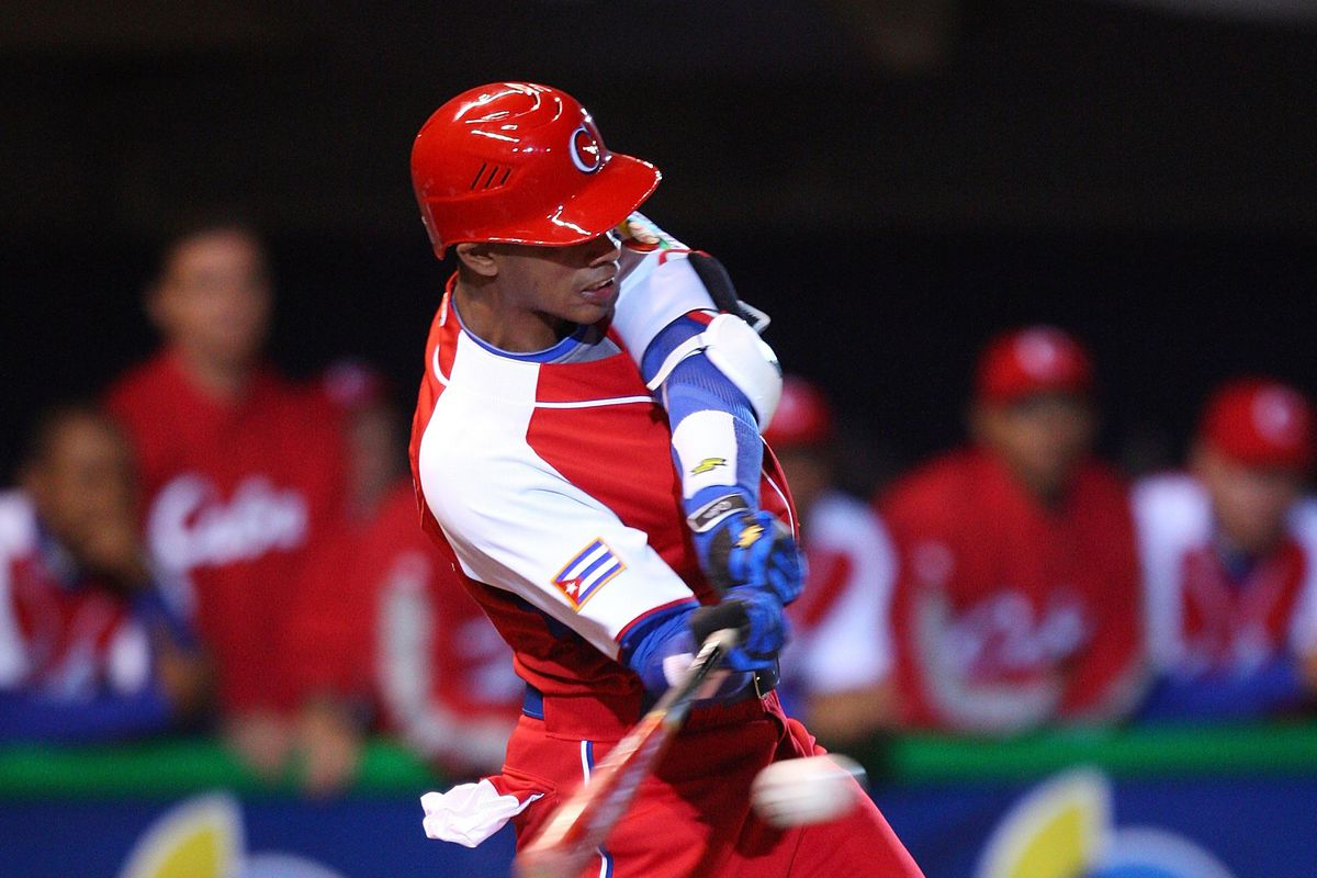 Hector Olivera trades in Cuban red for Dodger blue
