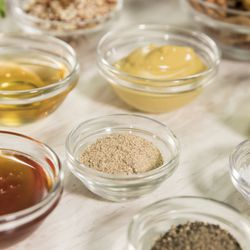 Ingredients for the Wild Striped Bass and Roasted Root Vegetable recipes.   Ashlee Rezin/Sun-Times