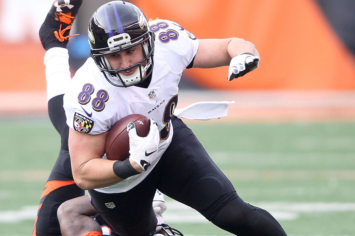 Ravens TE Pitta injures hip again; status for 2017 uncertain