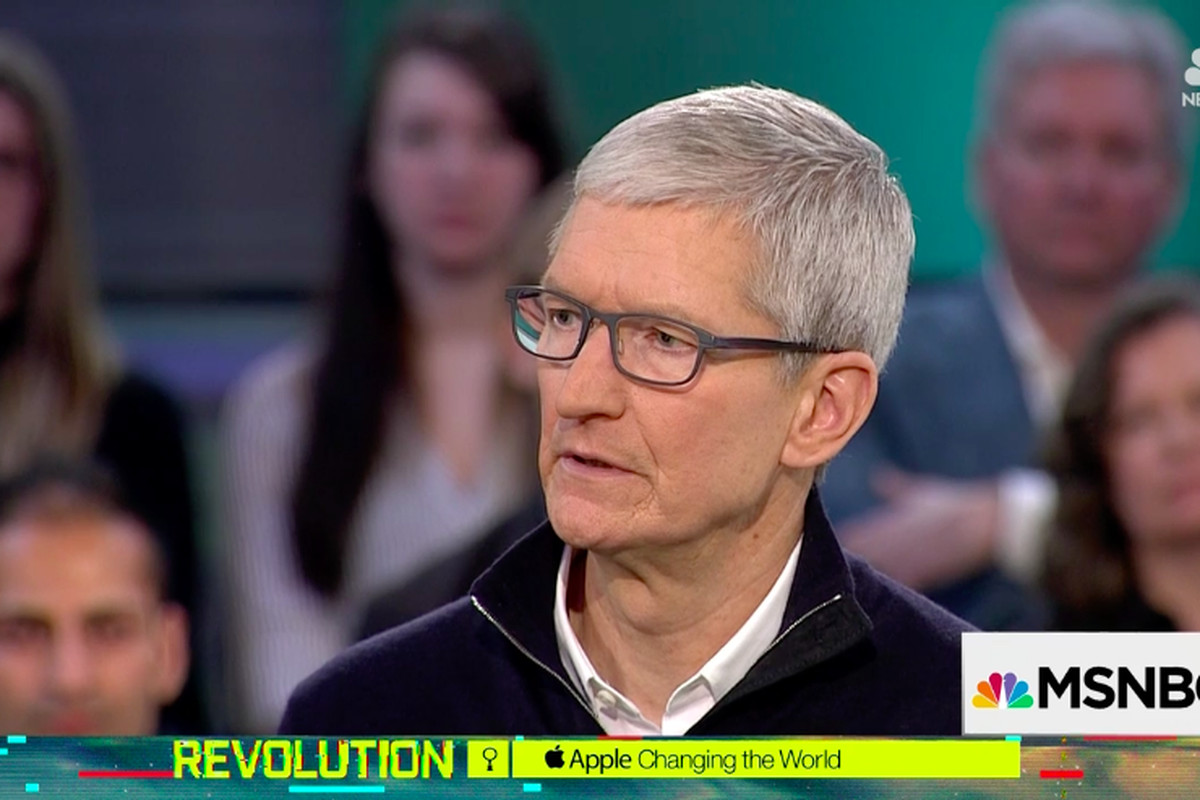 Apple CEO Tim Cook, Recode's Kara Swisher and MSNBC's Chris Hayes