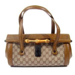 Gucci monogram bag with bamboo detail