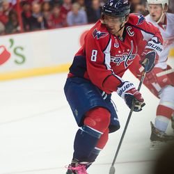 Ovechkin Looks For Incoming Pass