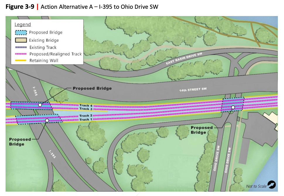 Long Bridge project from I-395 to Ohio Drive SW.