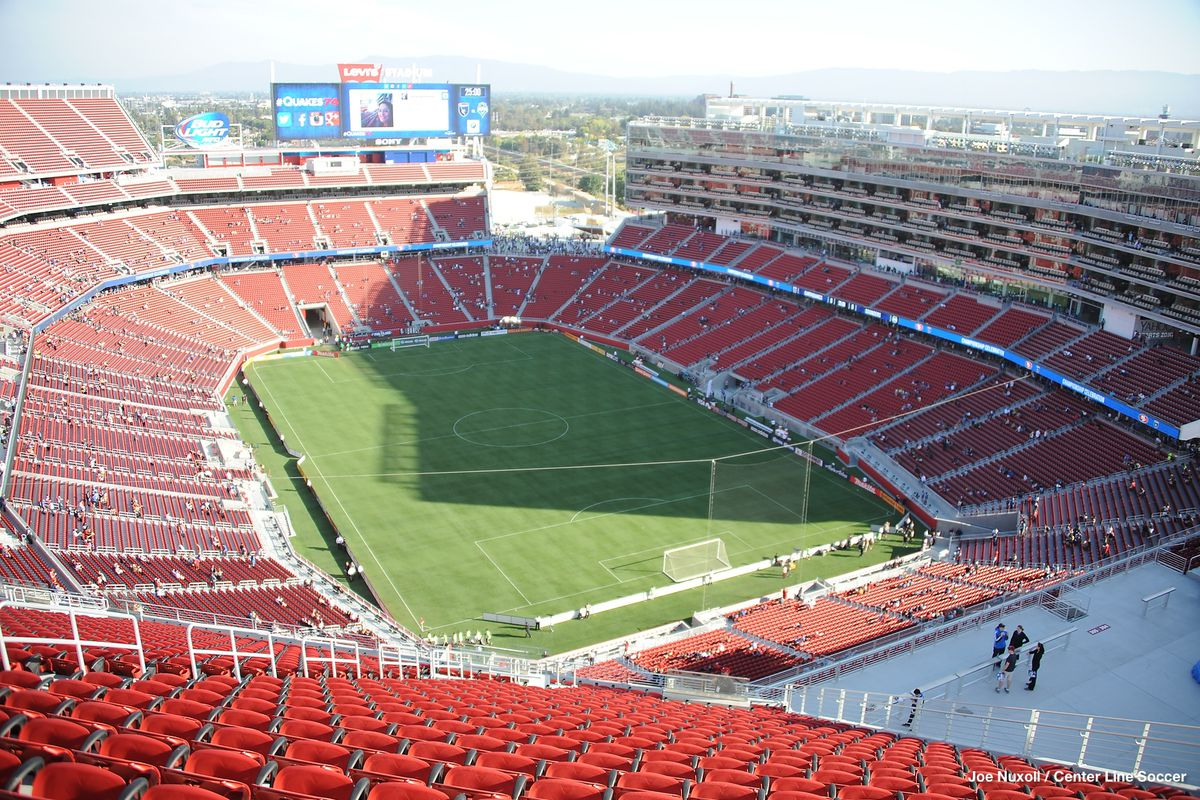 Levi's Stadium set up for real football. August 2nd, 2014.