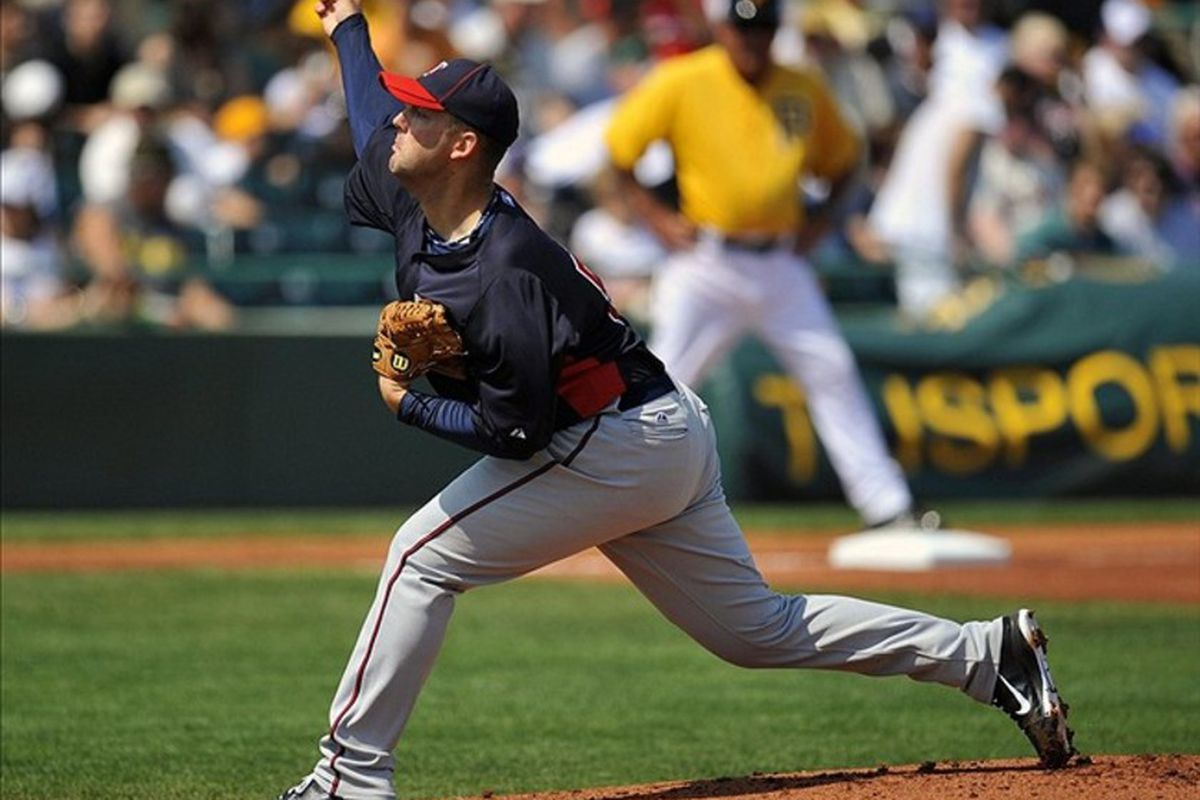 March 10, 2012; Bradenton, FL, USA; This is what Minnesota Twins pitcher Terry Doyle looks like.