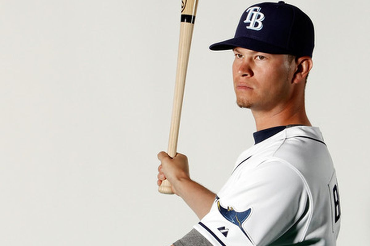 PORT CHARLOTTE, FL - FEBRUARY 29:  Reid Brignac #15 of the Tampa Bay Rays poses for a portrait at the Charlotte Sports Park on February 29, 2012 in Port Charlotte, Florida  (Photo by Jonathan Ferrey/Getty Images)