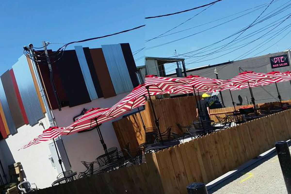 The patio is officially open at Zeke's Rock & Roll BBQ.