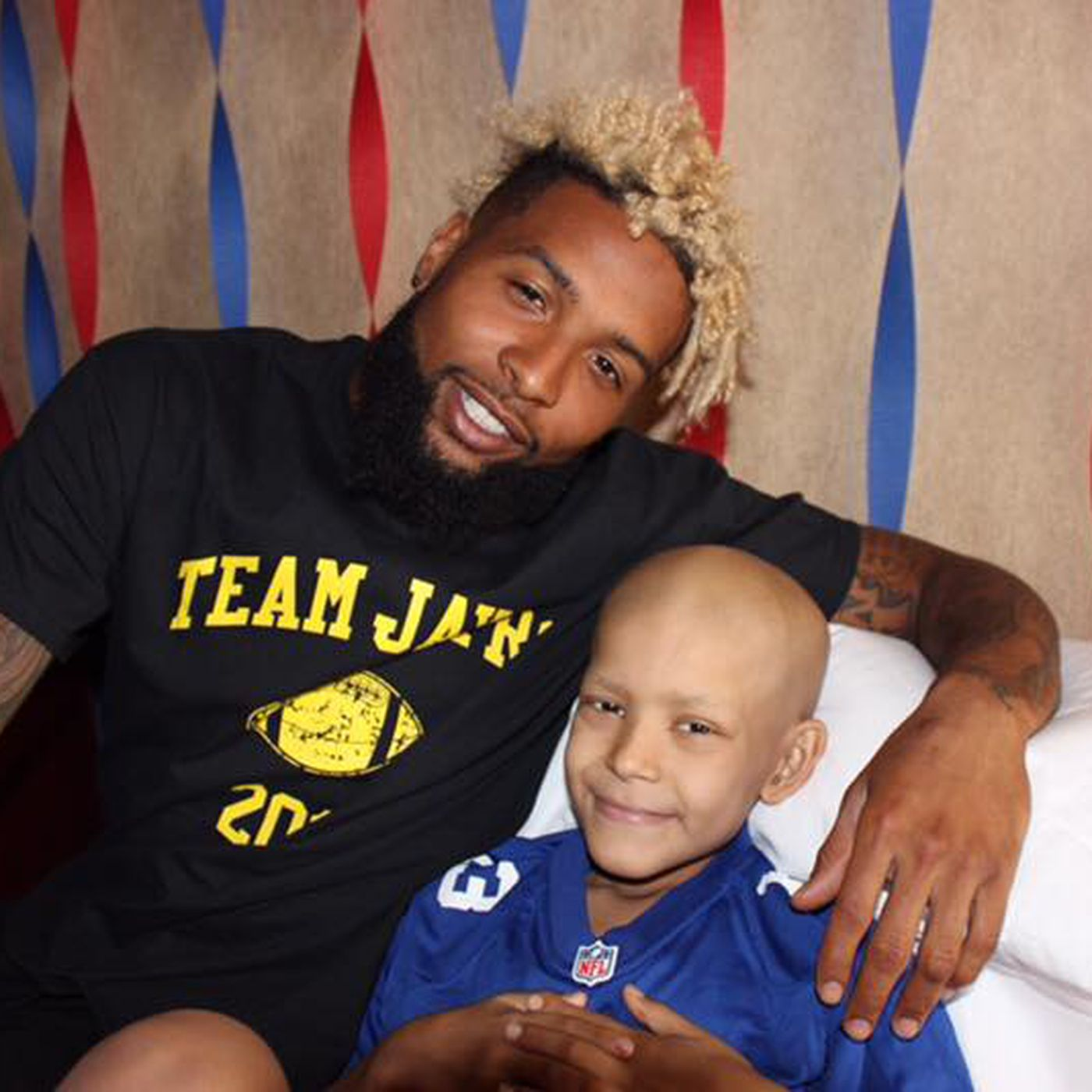huge discount d1b40 e258f Odell Beckham Jr. flew to Texas to visit a sick child in the hospital days  before training camp