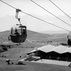 Historical file photo provided by Park City shows the old gondola cars.