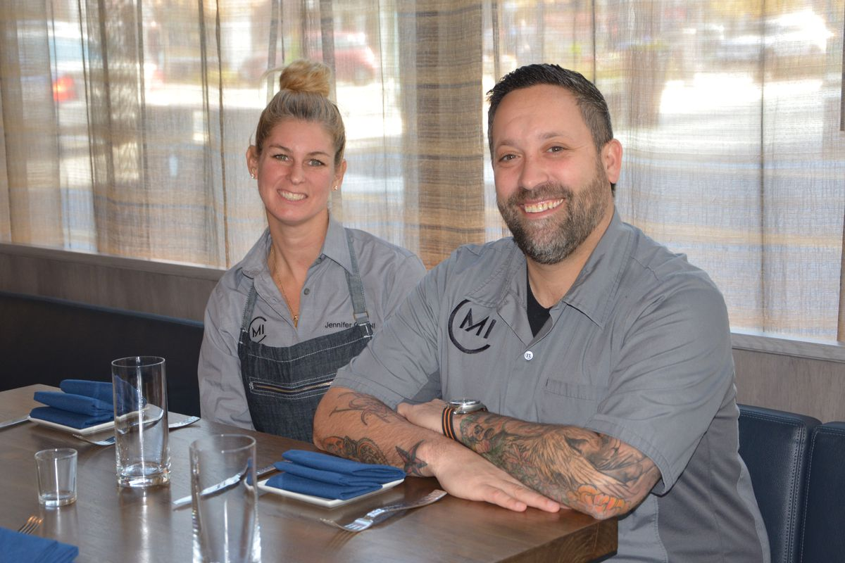 Jennifer Carroll and Mike Isabella at Requin