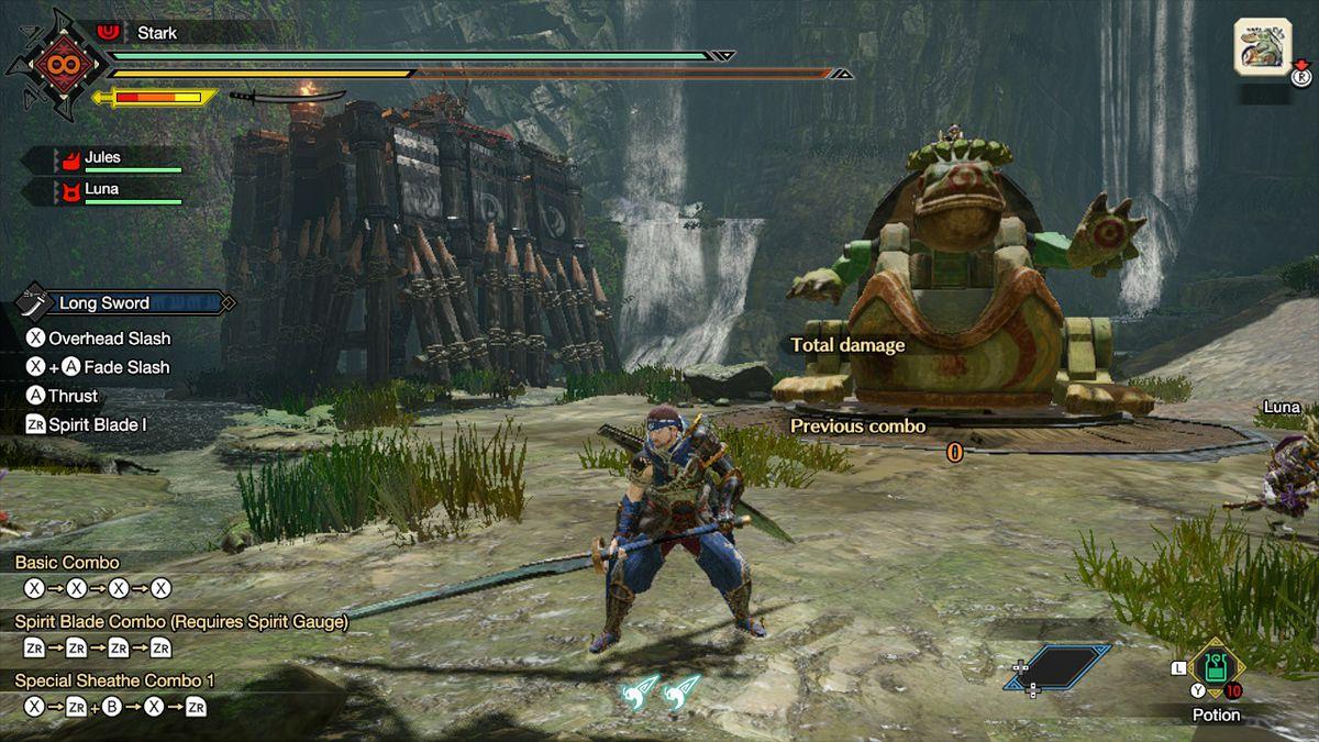 The long sword from Monster Hunter Rise