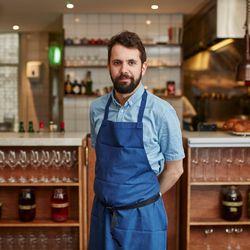 Merlin Labron-Johnson, head chef at Portland and Clipstone