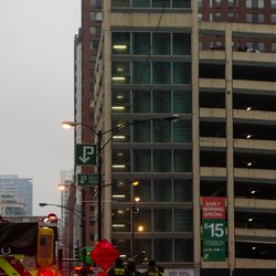 First responders at the scene of a fatal fire at a parking structure on Orleans and Hubbard, Saturday, Dec. 29, 2018, in Chicago. | Tyler LaRiviere/Sun-Times
