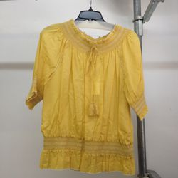 Cotton blouse, $70