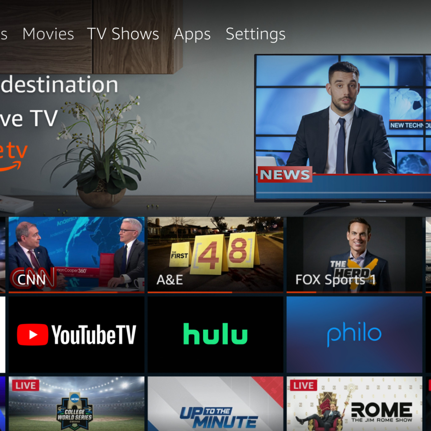 theverge.com - Julia Alexander - Amazon Fire TV Live adds virtual pay TV options from Sling, YouTube, and Hulu