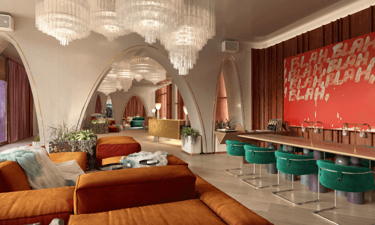 The lobby at Virgin Hotels