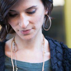 "Crescent Hoop Earrings, $66—$96 at Mushmina. Image credit: <a href=""http://www.heidirolandphotography.com/"">Heidi Roland Photography</a>"