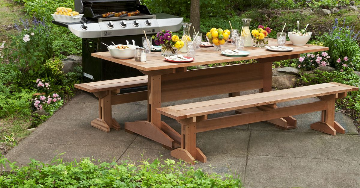 How to Build a Picnic Table and Benches