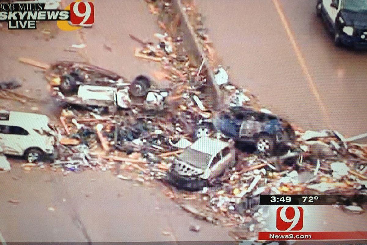 Tornado has decimated Oklahoma City, killing at least 24