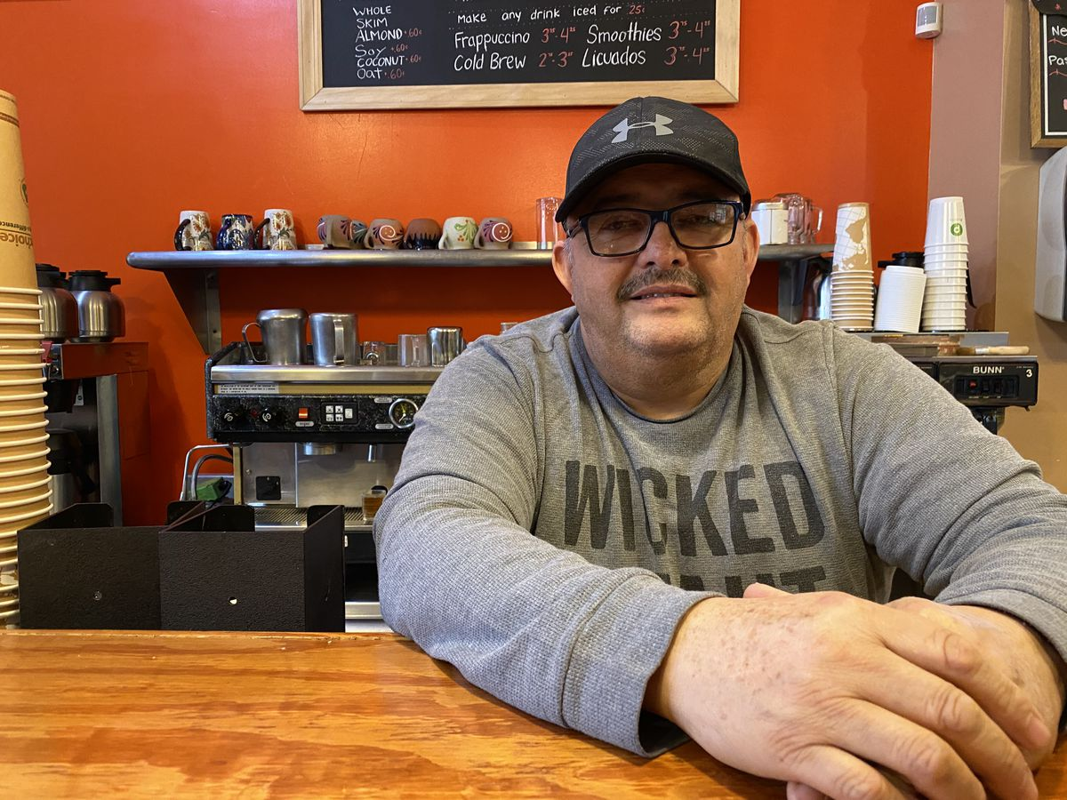 Leonel Rodriguez, 53, owner and founder of Step Down Café, speaks about being concerned if the prices of eco-friendly utensils and cups will rise because of the city ordinance, Wednesday, Jan. 15, 2020, in Pilsen.