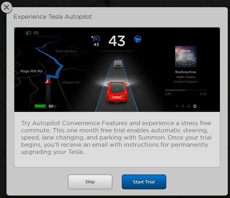 Tesla Autopilot Trial