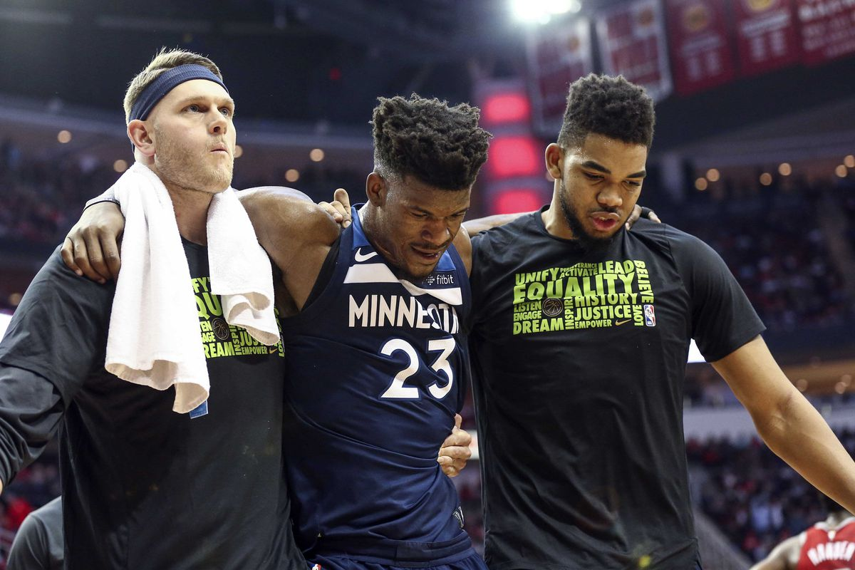 6404c88e23d6 Jimmy Butler s Knee Injury Will Be Another Test for the Timberpups ...